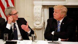Trump says Apple has plans to