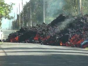 WATCH: Wall of lava blocks