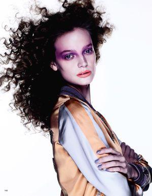 Ine Neefs Models Purple Beauty