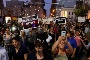 St. Louis protesters hold
