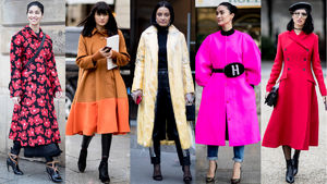 Bright, Bold Outerwear Was the