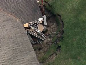 Sinkhole swallows part of