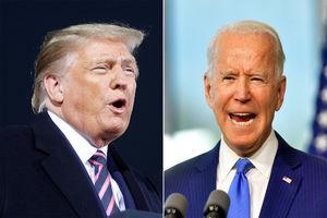 Trump mocks Biden for covering