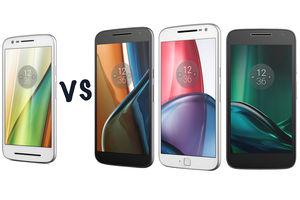 Motorola Moto E3 vs Moto G4 vs